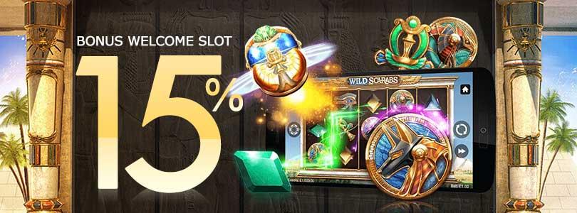 bonus welcome 15% permainan slot untuk pemain baru